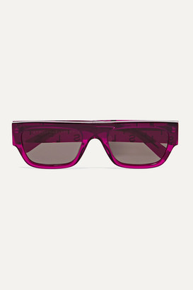 Stella McCartney Iconic D-frame Crystal-embellished Bio-acetate Sunglasses - Pink