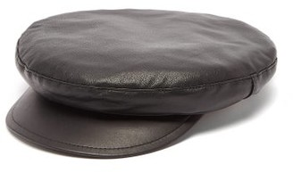 Ann Demeulemeester Leather Baker Boy Hat - Mens - Black