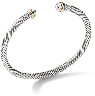David Yurman Cable Classics Bracelet with 18K Yellow Gold