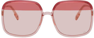 Christian Dior Pink and Burgundy DiorSoStellaire1 Sunglasses