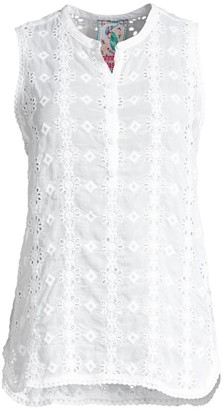 Johnny Was Laia Eyelet Sleeveless Top