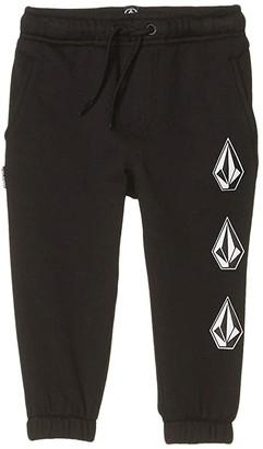 Volcom Deadly Stones Fleece Pants (Toddler/Little Kid) (Black) Boy's Shorts