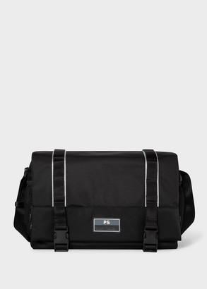 Paul Smith Men's Black Messenger Bag With Reflective Trims