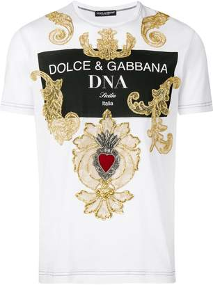Dolce & Gabbana baroque embroidered T-shirt