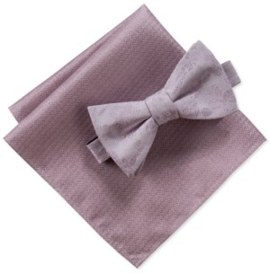 Ryan Seacrest Distinction Men's Pascal Floral Bow Tie & Pocket Square Set, Created For Macy's