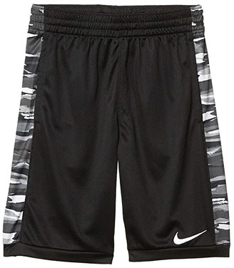 Nike Kids Trophy All Over Print Shorts (Big Kids) (Black/White) Boy's Shorts