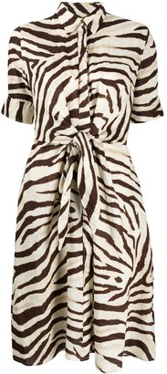 Lauren Ralph Lauren Zebra Print Shirt Dress