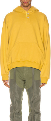 Fear Of God Everyday Henley Hoodie in Garden Glove Yellow | FWRD