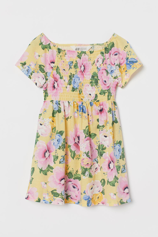 H&M Smocked Dress - Yellow