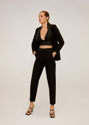 MANGO Straight suit pants black - 2 - Women