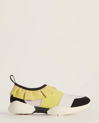 Emilio Pucci (Toddler/Kids Girls) Yellow & Pink Slip-On Sneakers