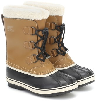Sorel Kids Yoot Pac shearling-trimmed leather snow boots