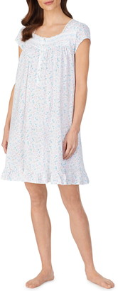 Eileen West Ditsy Floral Cotton Jersey Nightgown