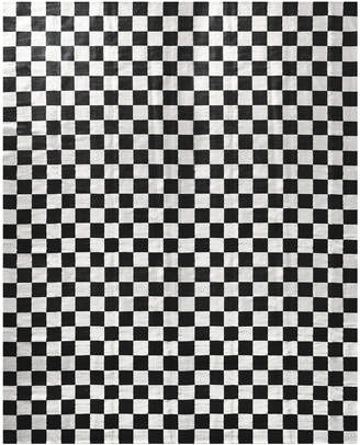 Jonathan Adler Small Scale Checkerboard Flat Weave Rug