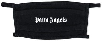 Palm Angels Classic Black And White Logo Face Mask
