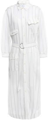 Current/Elliott Striped Voile Midi Shirt Dress