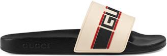 Gucci stripe rubber slide sandal