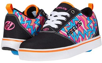 Heelys Pro 20 Prints (Little Kid/Big Kid/Adult) (Black/Pink/Orange/Cyan) Girls Shoes