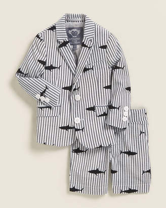 Appaman (Toddler Boys) Two-Piece Stripe Suit Jacket & Shorts Set