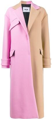 MSGM oversized two-tone coat
