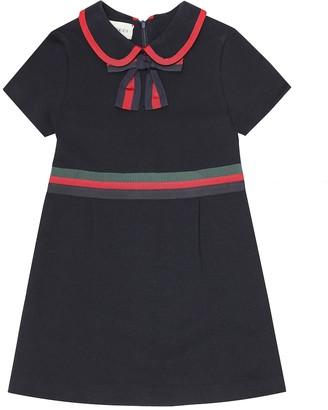 Gucci Kids Felted cotton-jersey dress