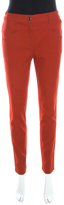 Escada Garnet Red Stretch Denim Teresa Straight Leg Jeans S