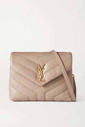 Saint Laurent Loulou Toy Quilted Leather Shoulder Bag - Beige