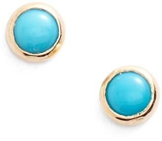 Chicco Zoe Turquoise Stud Earrings