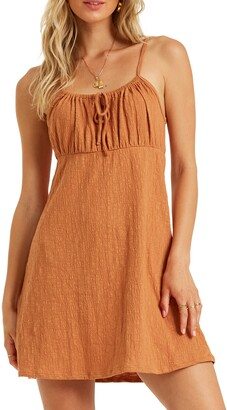 Billabong Flirt Much Ruched Minidress