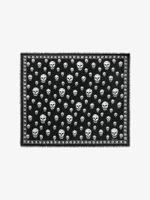 Alexander McQueen Classic Skull Cashmere Scarf