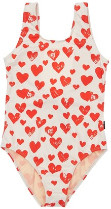 Molo Heart Print Lycra One Piece Swimsuit