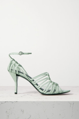 3.1 Phillip Lim Lily Knotted Leather Sandals - Mint