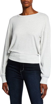Rag & Bone The Knit Crossover Long-Sleeve Top