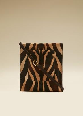 KHAITE The Lillian Pocket Pouch in Zebra Haircalf