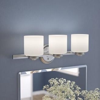 Andover Mills Slocumb 3-Light Vanity Light Finish: Brushed Nickel