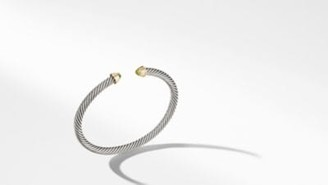 David Yurman Davidyurman Cable Kids Birthstone Bracelet With Peridot And 14K