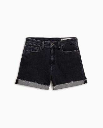 Rag & Bone Nina high-rise short - washed black