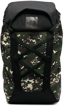 The North Face pixel camouflage backpack