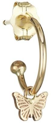 Zoë Chicco 14K Yellow Gold Butterfly Huggie Hoop Earring