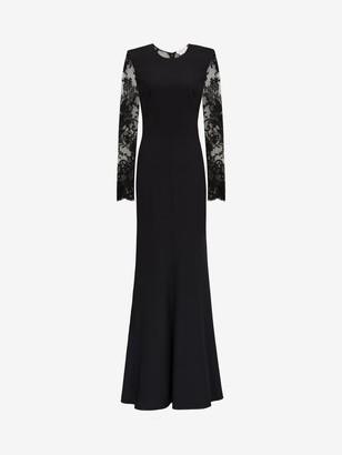 Alexander McQueen Lace Evening Dress