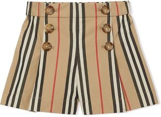 BURBERRY KIDS Signature Stripe Shorts