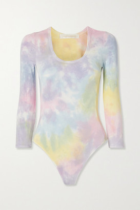 LoveShackFancy Helene Tie-dyed Stretch-jersey Bodysuit - Pink