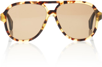 Gucci Sport Vintage Oversized Acetate Aviator Sunglasses