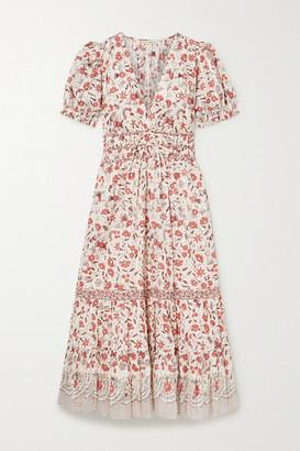 Ulla Johnson Zaria Floral-print Cotton Midi Dress - Ecru