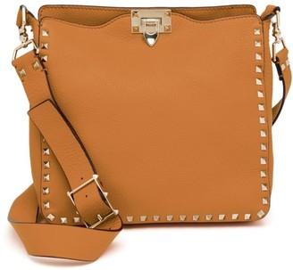 Valentino Small Rockstud Leather Hobo Bag
