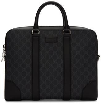 Gucci Black GG Supreme Briefcase