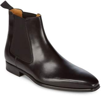 Magnanni Slip-On Leather Chelsea Boots