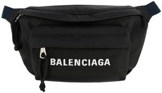 Balenciaga Wheel Belt Bag In Nylon With Logo