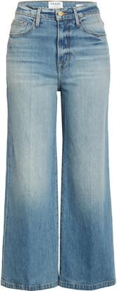 Frame Ali High Waist Crop Wide Leg Jeans