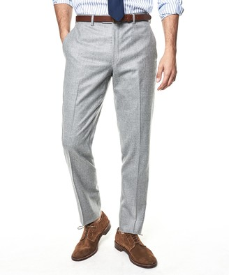 Todd Snyder Black Label Made In The USA Sutton Wool Flannel Suit Trouser In Light Grey